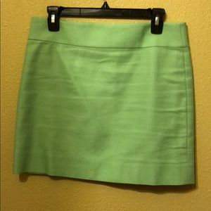 Mint green j.crew skirt